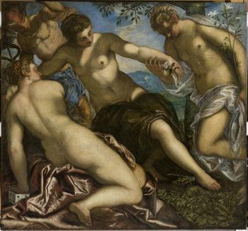 Tintoretto Mercurio-e-le-tre-Grazie