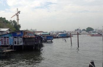 Ayuttaya Thailandia Bang Bao case-sull'acqua