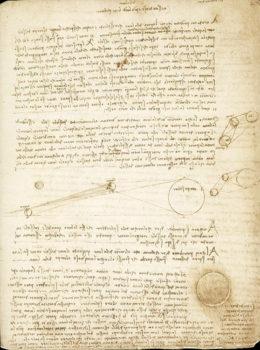 Codice Leicester studi sulla riflessione dei raggi solari dalla Terra alla Luna