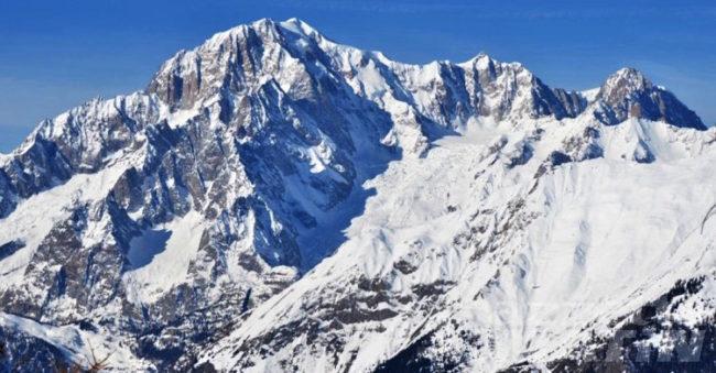 Le vette del Monte Bianco