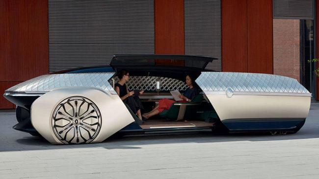 Renault ez ultimo concept presentato al Salone dell'automobile di Parigi 2018