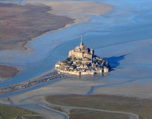 Mont Saint Michel visto dall'alto