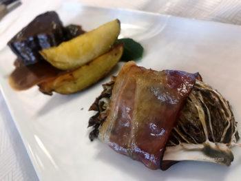 Radicchio di Chioggia guancia di-maiale-in-pancetta
