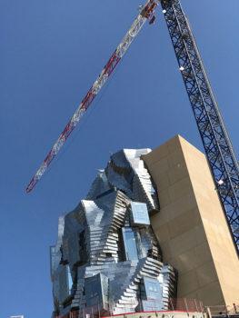 Arles, La torre di Frank Gehry in costruzione