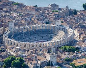 Il teatro romano visto dall'alto