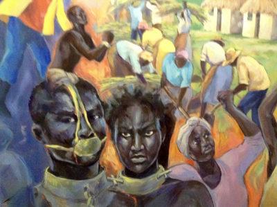Barbados dipinto-che mostra gli-uomini-in-schiavitù