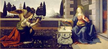 Leonardo da Vinci Firenze Annunciazione-Uffizi-(Pixabay)