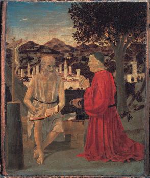 Piero della Francesca_ San Gerolamo e il devoto Venezia-Galleria dell'Accademia