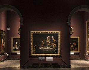 Michelangelo Merisi detto il Caravaggio, Cena in Emmaus, 1606 olio su tela, cm 141 x 175 - Milano, Pinacoteca di Brera