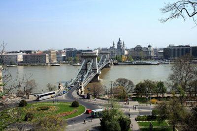 amiche Budapest ponte delle catene