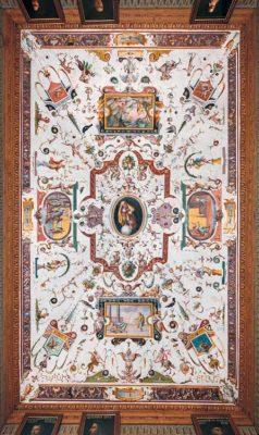 Grottesche La Melanconia e la sua cura, 1581, Alessandro Allori (1535-1607) e aiuti - Veduta della campata 43
