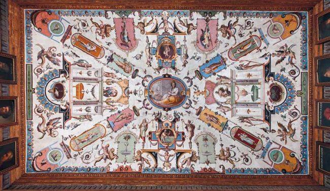 Affreschi di Alessandro Allori (1535-1607) Corridoio di Levante, Gli Uffizi