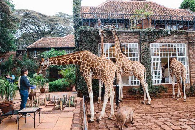 hotel stravaganti Giraffe-Manor Nairobi