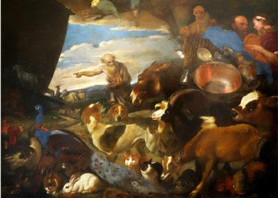 Animali nell'arte L'arca-di-Noè-Giovanni-benedetto-Castiglione-detto-il-Grechetto