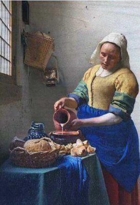 amiche Lattaia di Johannes Vermeer