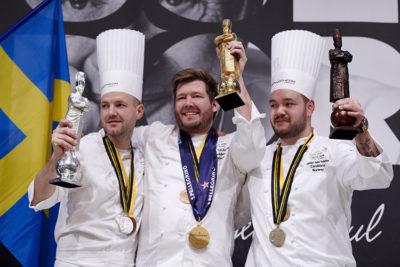 Lione-Finale Bocuse d'Or i tre chef vincitori