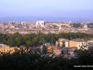 Panoramica su Roma con vista del Gianicolo