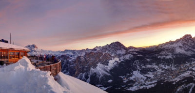 Tofane Alba sul massiccio delle Dolomiti