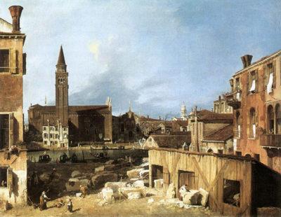 Canaletto e Venezia marmi-San-Vidal