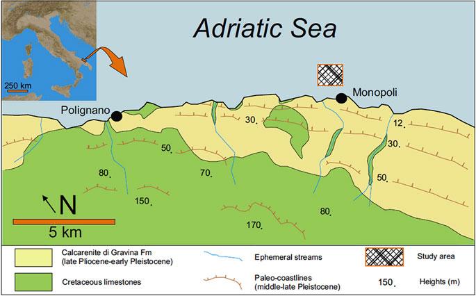 Cartina Puglia Costa Adriatica.Cartina Costa Adriatica Barriera Corallina Mondointasca