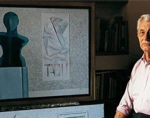 Imer Guala nello studio di Milano (foto: Franco Masculo)