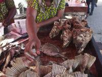 Dar Es Salaam, donna vende il suo pesce affumicato (ph: © D. Penati – Mondointasca.it)