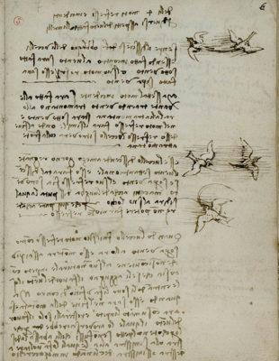 Leonardo disegnare il futuro studi sul volo