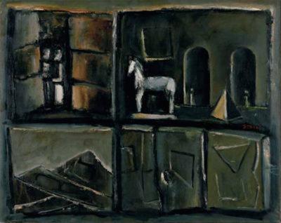 Mario Sironi 2 Composizione con cavallo