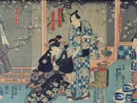 Yoshu Chinkanobu  (1838-1912). Scena di teatro kabuki