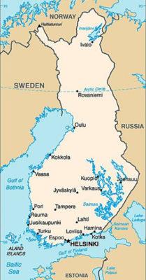Piantina della Finlandia