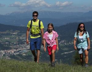 Fare trekking in famiglia