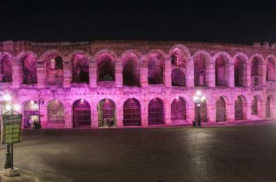 Arena di Verona in rosa