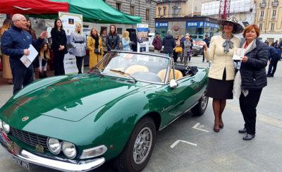 Le auto del concorso per le vie di Monza (Foto: P. Gamba © Mondointasca.it)