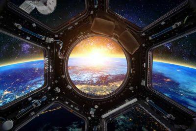 spazio La terra vista dalla navicella