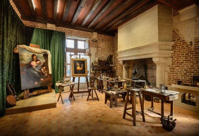 Les ateliers di Leonardo da Vinci al Castello di Clos Lucé