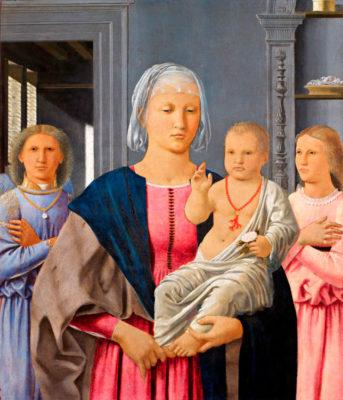 Madonna di Senigallia, di Piero-Della Francesca, foto mostra