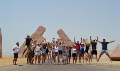 Mar Rosso Porta di Allah gruppo-escursionista