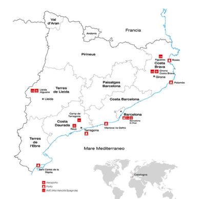 cinque itinerari Regione-della-Catalunya