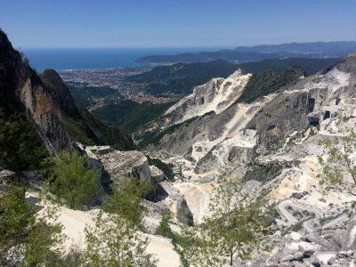 Carrara Il paesaggio delle Alpi Apuane