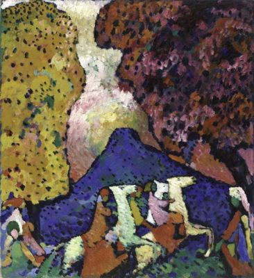 Vasily Kandinsky Montagna blu