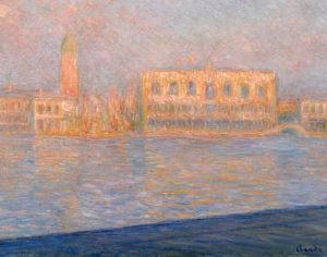 Claude Monet. Il Palazzo Ducale, visto da San Giorgio Maggiore (Le Palais Ducal vu de Saint-Georges Majeur), 1908.