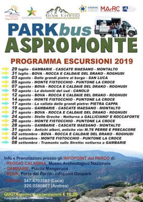 Parkbus programma 2019