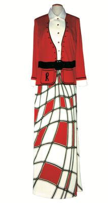 tessuto Roberta-di-Camerino-(Giuliana-Coen,-Venezia-1920-2010)-Abito-femminile,-1976,-jersey-di-poliestere-stampato,Museo-della-Moda-e-del-Costume,-Gallerie-degli-Uffizi,-Firenze