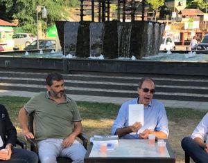 Sergio Tralongo con gli autori Domenico Malaspina e Antonino Sapone e il Sindaco di Santo Stefano in Aspromonte, Francesco Malara
