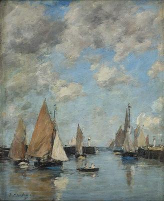 Monet e gli impressionisti Eugène Boudin Trouville, il molo con l'alta marea, 1888-1895.