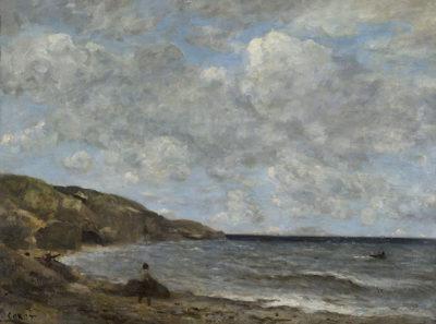 Jean-Baptiste Camille Corot Una spiaggia in Normandia, 1872-74