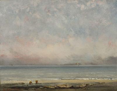 Gustave Courbet La spiaggia a Trouville, 1865