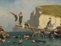Eugéne Le Poittevin, Bagno a Étretat, 1858 ca. Collection Association Peindre en Normandie