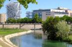 Montpellier, Il-nuovo-quartiere-di-Port-Marianne-con-l'Arbre-Blanc-e-il-fiume-Lez (foto: d. bragaglia© mondointasca.it)