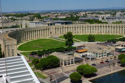 Montpellier-Esplanade-de-l'Europe,-uno-degli-ingressi-al-quartiere-Antigone (foto: d. bragaglia© mondointasca.it)